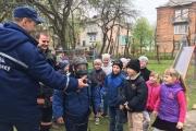 Рятувальники провели показові заняття для школярів щодо дотримання правил протипожежної безпеки