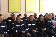 Нововолинських рятувальників привітали зі святом
