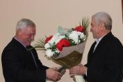 У міській раді привітали  колишнього директора асфальтного заводу Сергія Сая із 75-річчям з дня народження