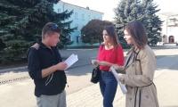 У центрі міста провели інформаційно-просвітницьку акцію з  протидії торгівлі людьми